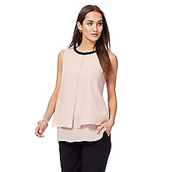The Collection - Light pink layered top