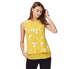 The Collection - Dark yellow floral print layered top