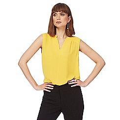 The Collection - Yellow textured sleeveless top