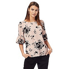 The Collection - Light pink floral print bell sleeves top