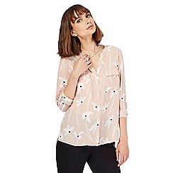 The Collection - Light pink floral print utility shirt