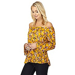 The Collection - Mustard floral print top
