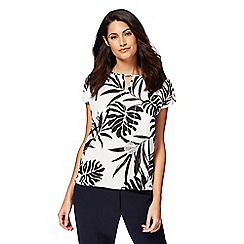 The Collection - Ivory palm tree print top
