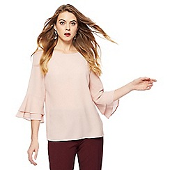 The Collection - Pale pink flute sleeve top