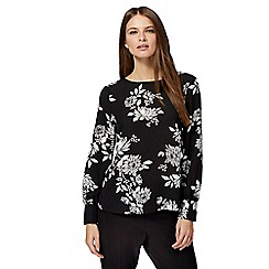 The Collection - Black floral print blouse