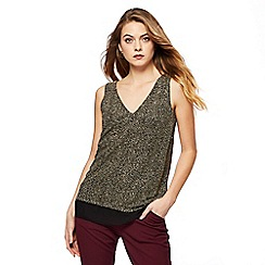The Collection - Gold sparkle sleeveless top