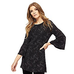 The Collection - Black glittery patterned tunic