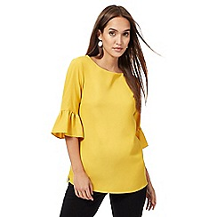 The Collection - Mustard flute sleeves top