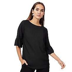 The Collection - Black flute sleeves top