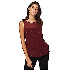 The Collection - Dark red hot fix top