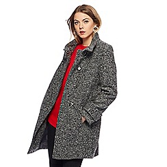 The Collection - Dark grey salt and pepper boucle coat