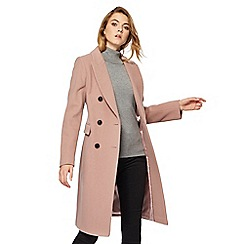 The Collection - Dark pink wool-blend city coat