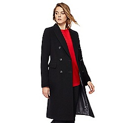 The Collection - Black wool-blend city coat