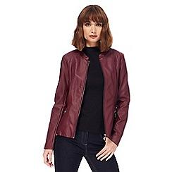 The Collection - Dark red zip pocket jacket
