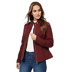 The Collection - Wine red quilted jacket
