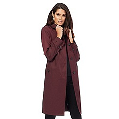 The Collection - Wine red single breasted mac coat