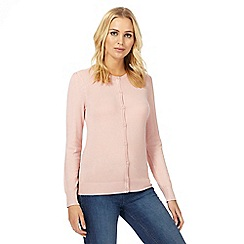 The Collection - Light pink crew neck cardigan