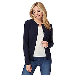 The Collection - Navy crew neck cardigan
