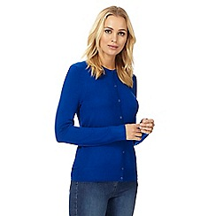 The Collection Petite - Blue crew neck petite cardigan