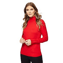 The Collection - Red roll neck jumper