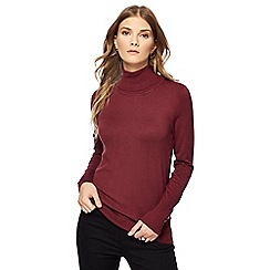 The Collection - Maroon roll neck jumper