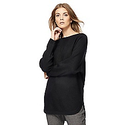 The Collection - Black textured dolman sleeves jumper