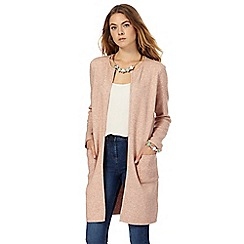 The Collection - Light pink longline cardigan