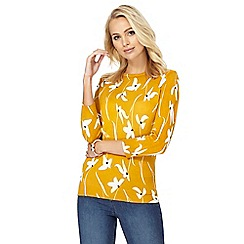 The Collection - Mustard floral print jumper