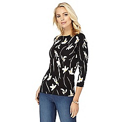 The Collection Petite - Black floral print jumper