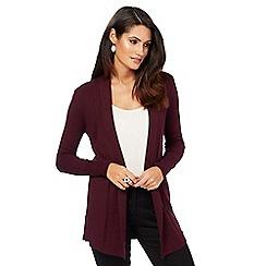 The Collection - Dark red shawl collar cardigan