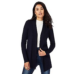 The Collection - Navy shawl collar cardigan
