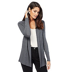 The Collection - Grey shawl collar cardigan
