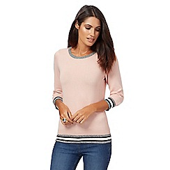 The Collection Petite - Light pink zipped shoulder jumper