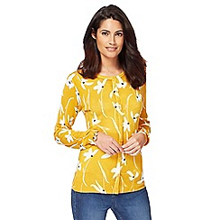 The Collection - Yellow floral print cardigan