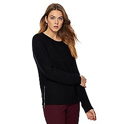 The Collection - Black chunky knit jumper
