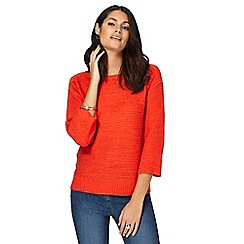 The Collection - Dark orange button appliqueé jumper