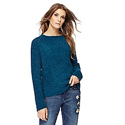 The Collection - Dark turquoise chenille jumper