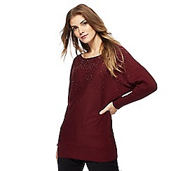 The Collection - Dark red diamante jumper