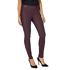The Collection - Purple coated jeggings