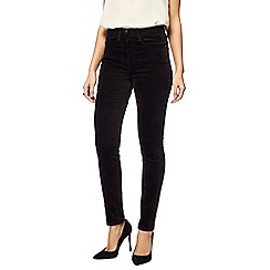 The Collection - Black velvet slim leg jeggings