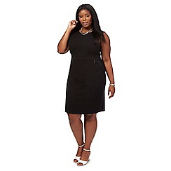 The Collection - Black knee length plus size shift dress