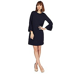 The Collection - Navy flute sleeves shift dress