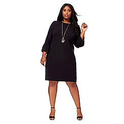 The Collection - Black flute sleeves plus size shift dress