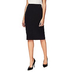 The Collection Petite - Black petite suit skirt