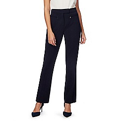 The Collection Petite - Navy straight leg petite suit trousers