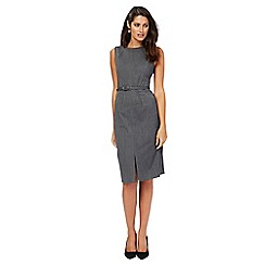 The Collection Petite - Grey textured midi pencil dress