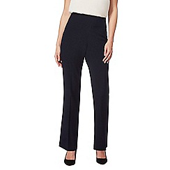 The Collection - Navy flat front straight leg trousers