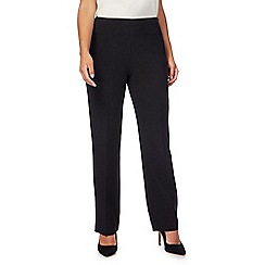 The Collection - Black flat front straight leg trousers
