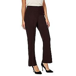 The Collection - Dark brown flat front straight leg regular length trousers