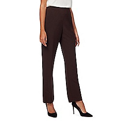 The Collection - Brown straight leg trousers
